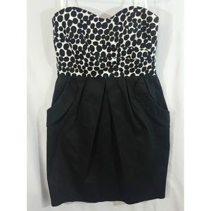A. Byer Womens Dot Fitted Cocktail Dress Size 7